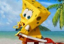 Губка Боб выходит из воды