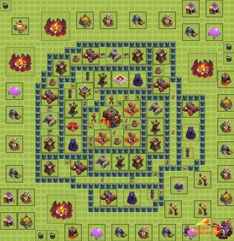как построить базу для игры клаш оф кланс тх 11 #7
